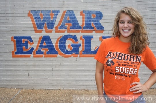 Alice Fraasa: Auburn senior, internet phenomenon. Beating Bama is sweet as sugar.