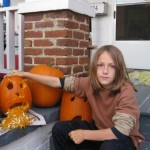 Leo Schmidt and his puking pumpkin.