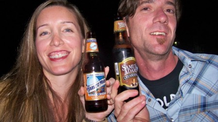 Ashley Aston and Andrew Lowery enjoy fall-themed brews.