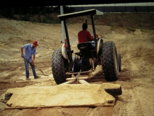 It's grade to be an Auburn Tiger: Conner's crew prepping the new practice fields.