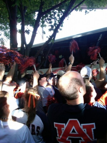 "I think we all saw this particular Tiger Walk coming, didn't we? Photo by John ""Shug Life"" Comer."