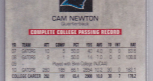 Cam Newton card Florida