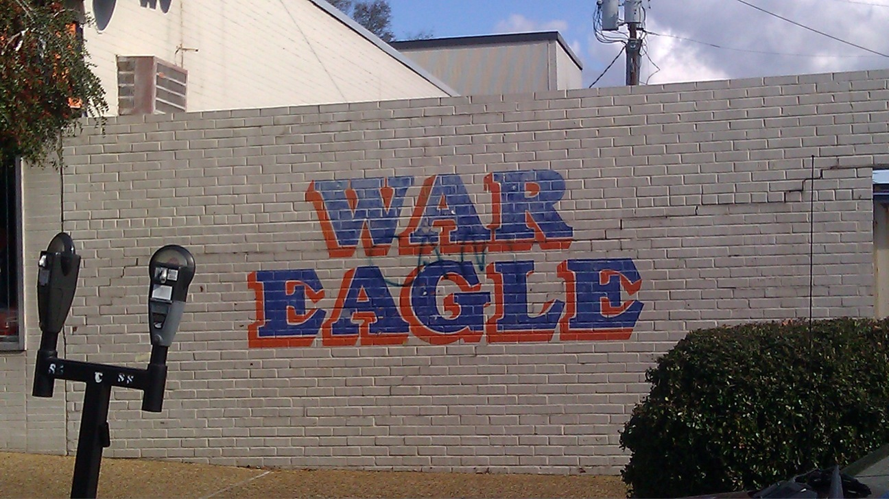 War Eagle Graffiti on war eagle wall