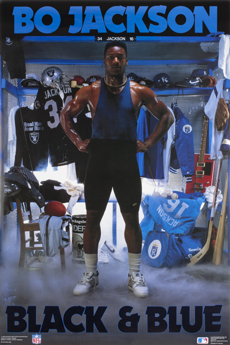 Bo Jackson S Black And Blue Poster