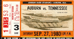 Jordan-Hare's west upper deck was first open to Auburn fans in the Tigers' 1980 SEC opener against Tennessee.