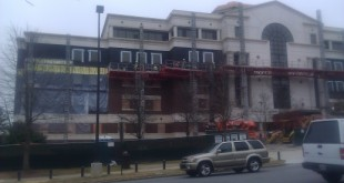 Evidently the bricks on Lowder were a shade too close to Crimson, so it was time to re-facade the entire building.