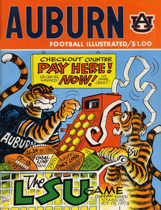 the aubie archives lsu according to phil neel