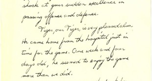 Letter from parents of Tiger Feld small 11.28.1972