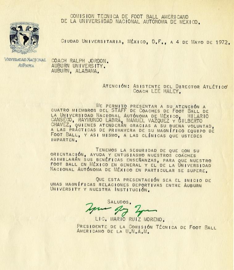 Shug's letter (in Spanish) from the Presidente De La Comisión ...