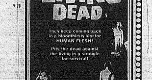 'Night Of The Living Dead' at the Tiger Theatre, Halloween 1973