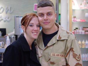35b969c66 Cam Newton helps airman propose to longtime girlfriend, girlfriend ...