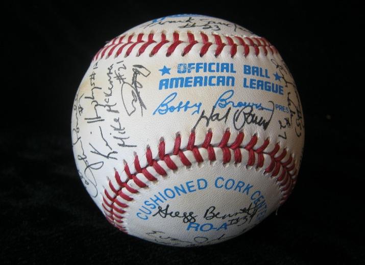 Autographed baseball