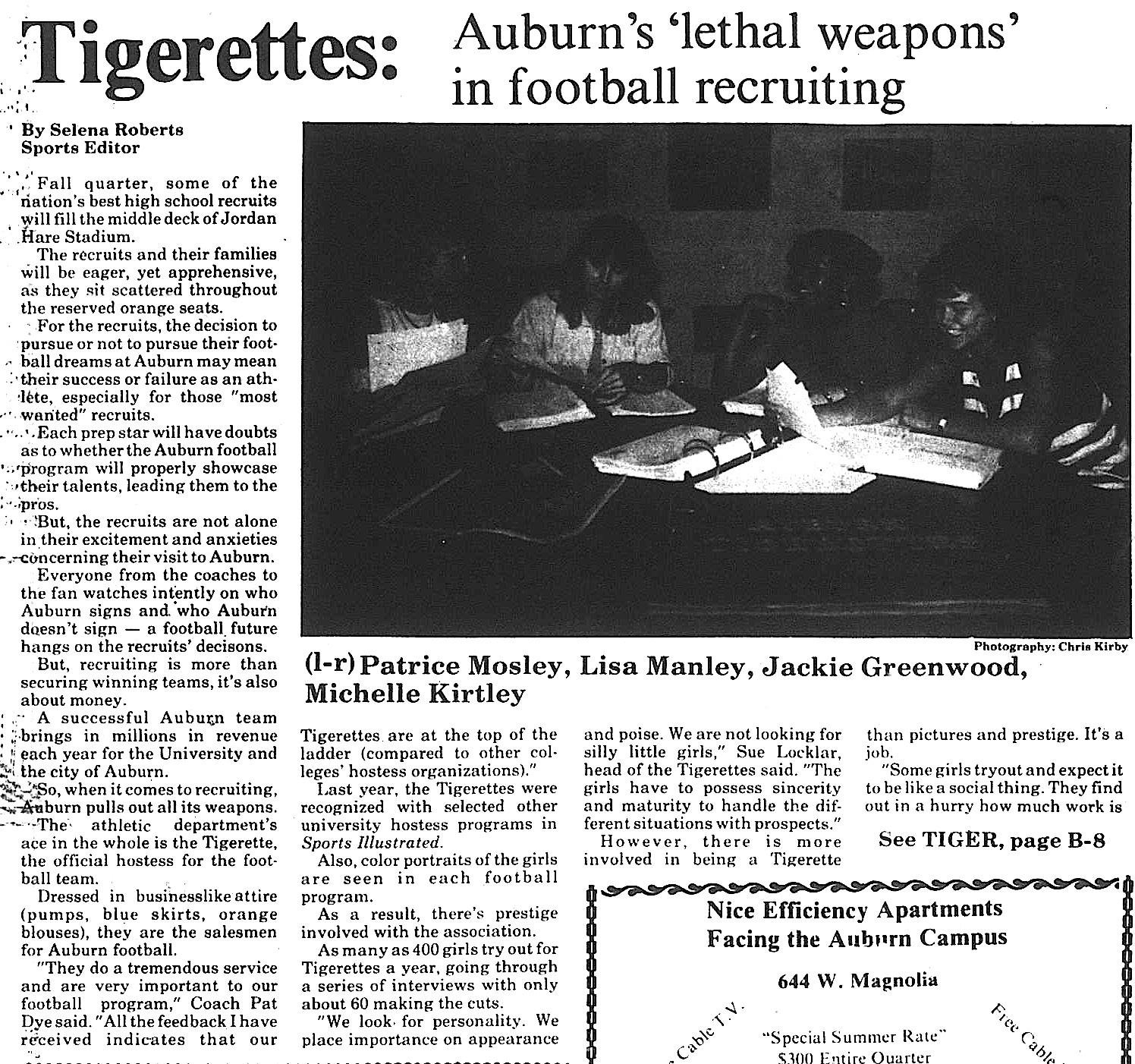 selena roberts tigerettes 1 6.2.1988
