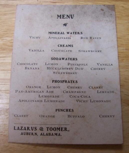 toomer's menu