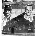 Rare photo of the exterior of The Auburn Stadium before its dedication at Auburn's 1939 homecoming game vs. Florida