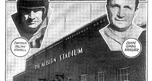 Rare photo of the exterior of The Auburn Stadium before its dedication at Auburn's 1939 homecoming game vs. Florida