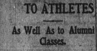 Auburn—and America's?—first homecoming was definitely held in 1909, not 1913