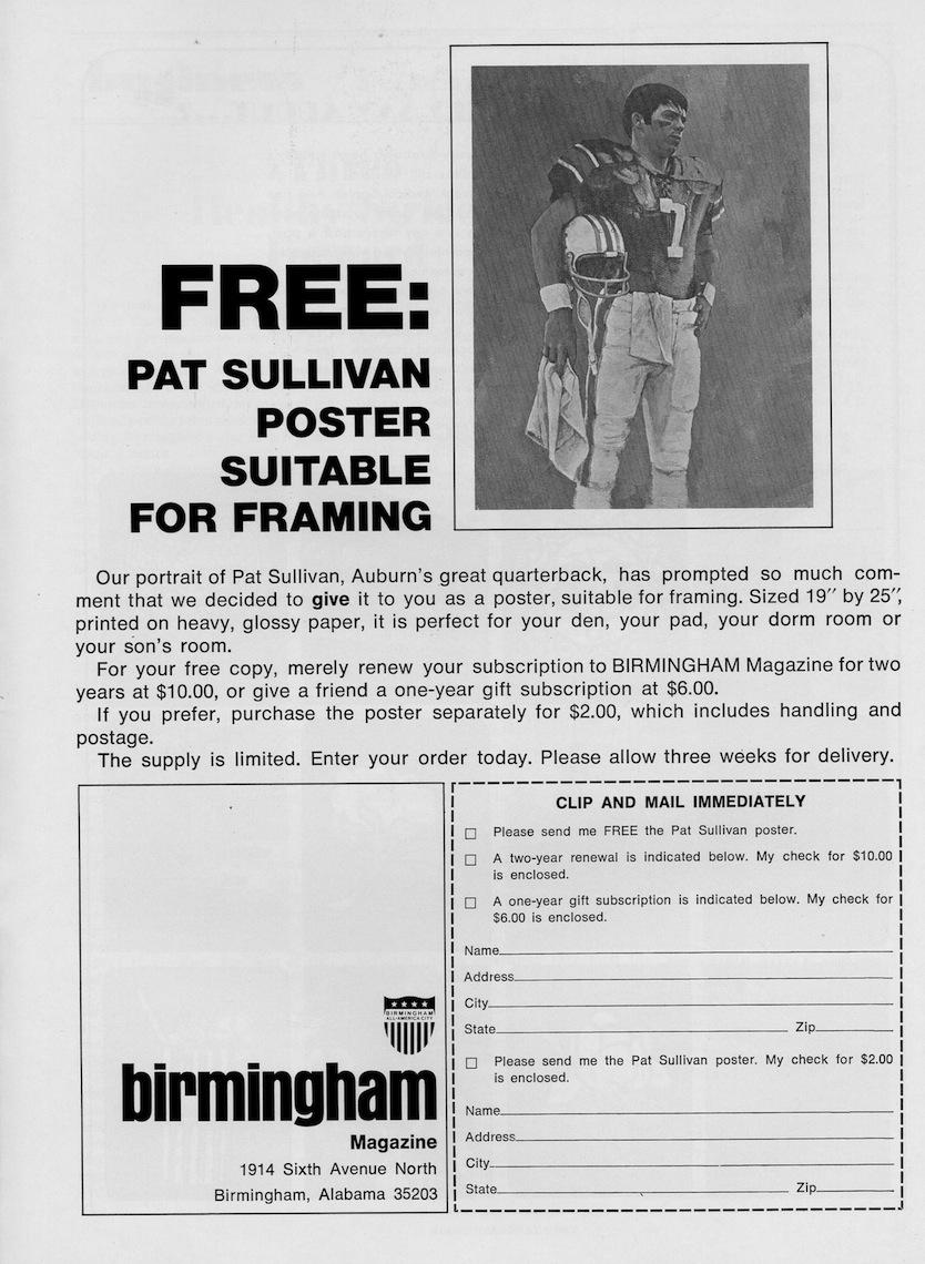 pat sullivan birmingham magazine order form copy