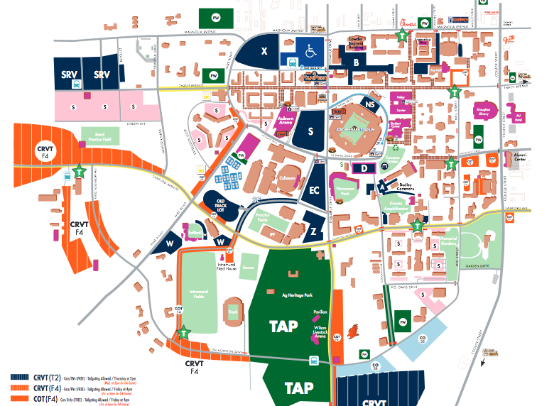 Auburn announces Iron Bowl parking plan; Hayfield lot RVs may remain on