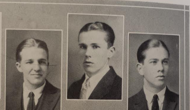"1989 Ethan Hawke in ""Dead Poets Society"" you say? No, 1924 Robert K. Posey, staring down fascism during his junior year at API. [Photo: Glomerata]"