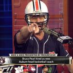 Bruce Pearl dons Auburn baseball jersey, football helmet on Thursday's episode of ESPN's 'Mike and Mike'