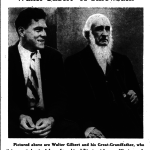 A photo of Auburn football legend Walter Gilbert with his freakishly strong great-grandfather