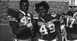 "James Owens, Thom Gossom, and Chris ""Fat Daddy"" Wilson. [Photo courtesy AU Photo Services]"