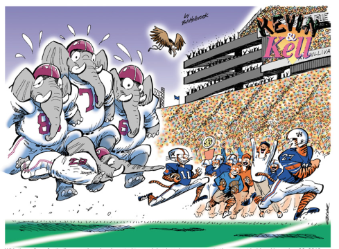 Alabama has nothing but fat elephants on the field.