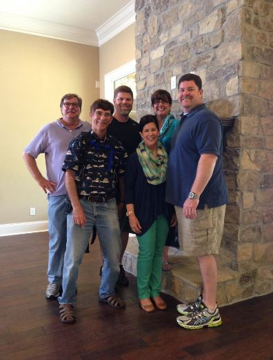"Smith, the Loughridges, and the ""House Hunters"" crew. (Photo: Kristi Smith)"