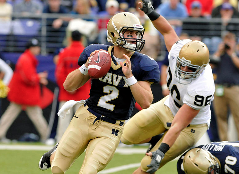 Jarod Bryant, Midshipmen Quarterback/ Photo: Tommy Gilligan