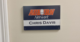 Walk into the Auburn Network and take a left. Chris Davis' office is at the end of the hall.