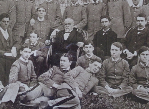 Broun posing with the SAE boys in 1897.