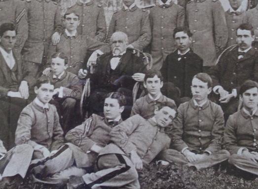 Broun posing with the SAE boys in 1897.
