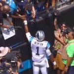 Cam Newton flips into the end zone for superhuman touchdown, gives ball to young Auburn fan