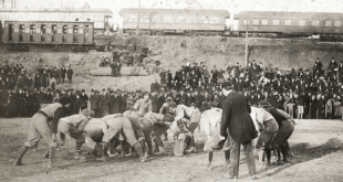 The 1895 Auburn – Georgia game at Piedmont Park in Atlanta.
