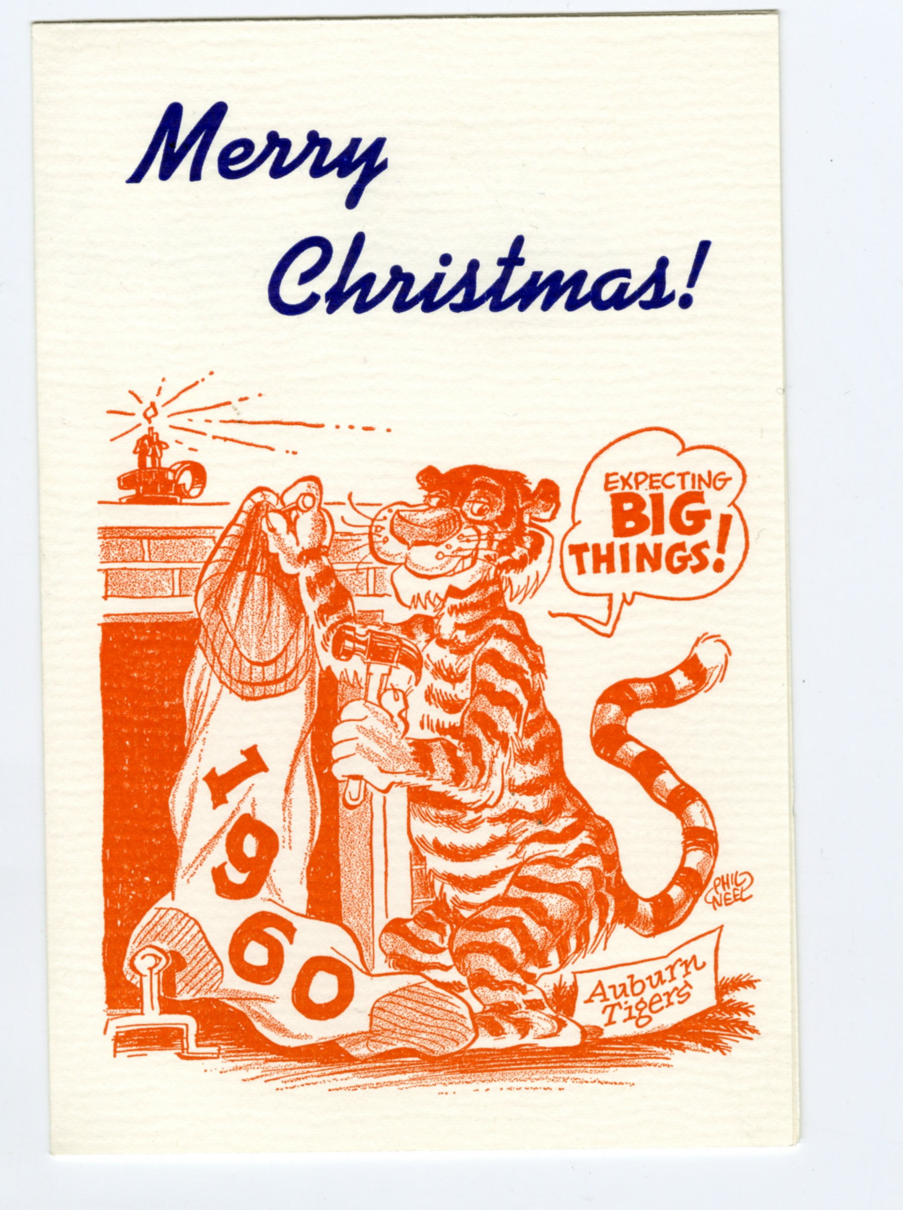 The christmas cards phil neel did for auburns athletics department 1960 christmas card aubie phil neel m4hsunfo