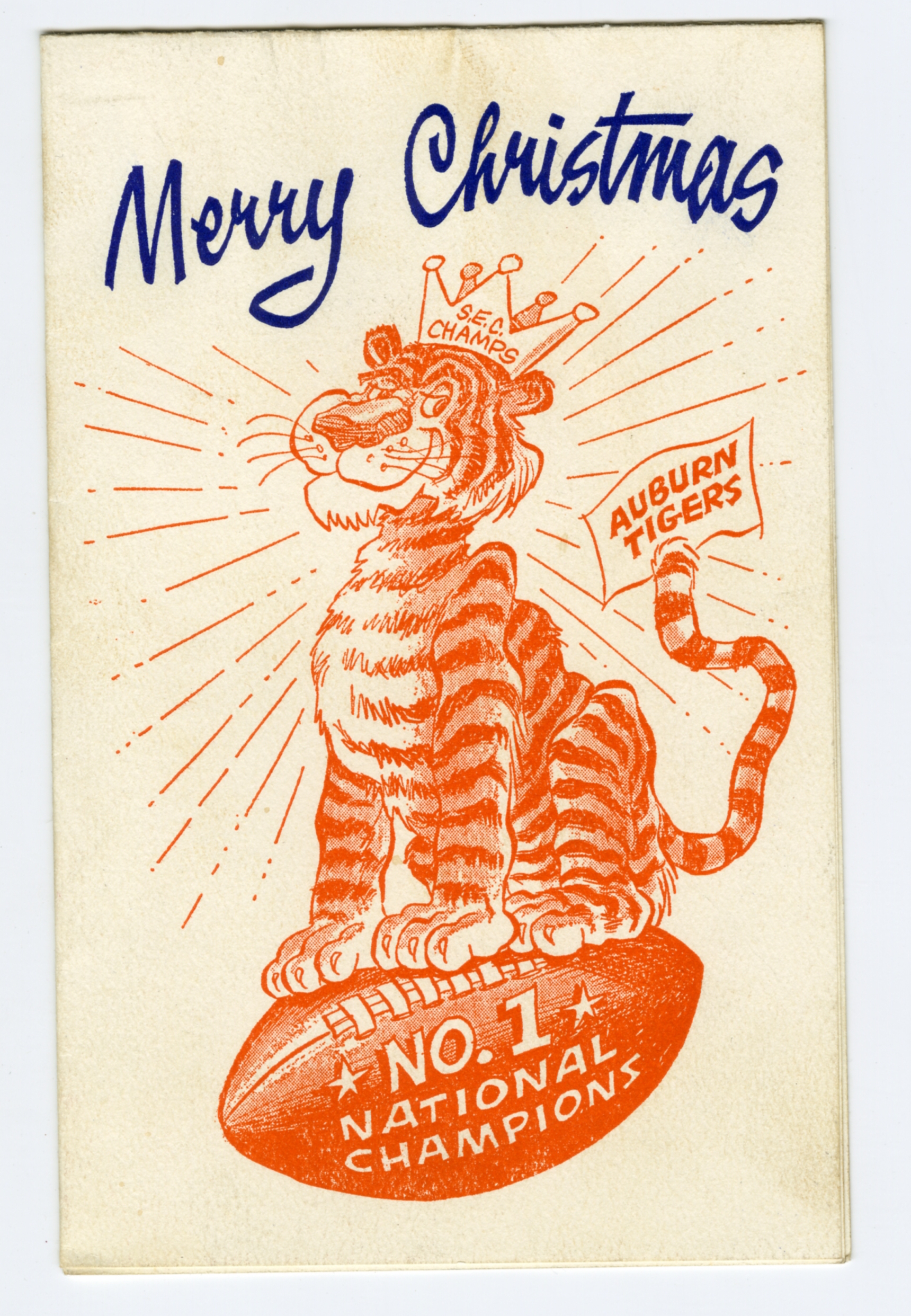The christmas cards phil neel did for auburns athletics department christmas card aubie 1957 phil neel m4hsunfo