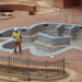 Here's the Tiger Paw shaped hot tub (and pool rock climbing wall) at Auburn's New Student Recreation and Wellness Center