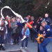 Power rolling Toomer's Corner with leaf blowers