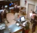 Security camera footage of employees at Auburn Marco's Pizza reacting to the final play of the Iron Bowl