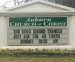 Auburn Church of Christ sign: 'God gives second chances, just ask the Auburn Tigers'