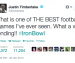 Justin Timberlake's tweet about the 'wild ending' of the Iron Bowl