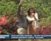Weather Channel cameras capture marriage proposal in background during A-Day segment shot in front of Samford Hall