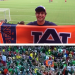 Incoming AU freshman Patrick Keim's Auburn flag beat out best friend's Bama flag for 15 minutes of World Cup fame