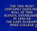 Auburn, where 'the Tide most certainly does not roll', is correct response in 'College Knowledge' category on 'Jeopardy!'