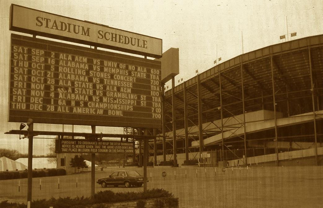 Legion Field. 1 p.m. Dec. 2, 1989.