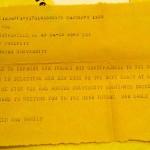 Telegram from the Barfields