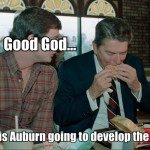 Ronald Reagan touts Tigers in Tuscaloosa, gets booed