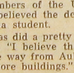 Bama students vandalized their own campus with Auburn graffiti before the 1953 Iron Bowl