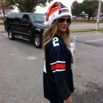 The gift that keeps on giving: Molly Sims as Auburn Santa